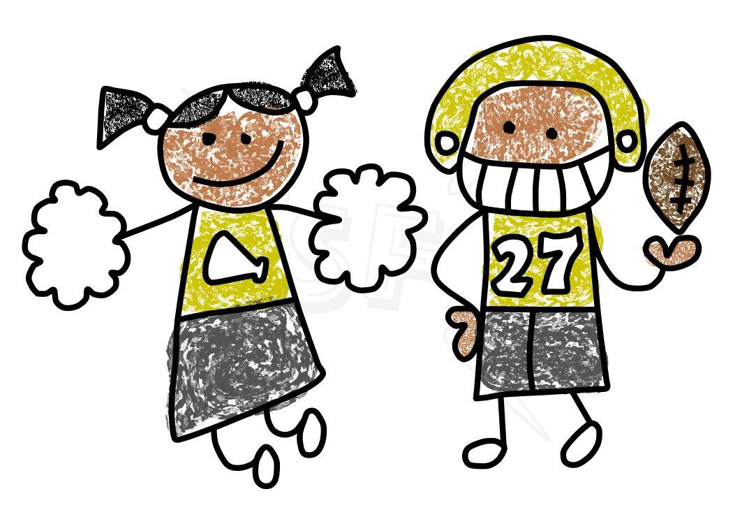 Football clipart cute Download Football Football Cheerleader Cheerleader