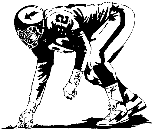 Football clipart defensive line And collection white american black