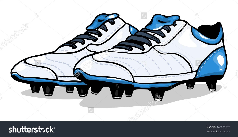 Football clipart football boot #10