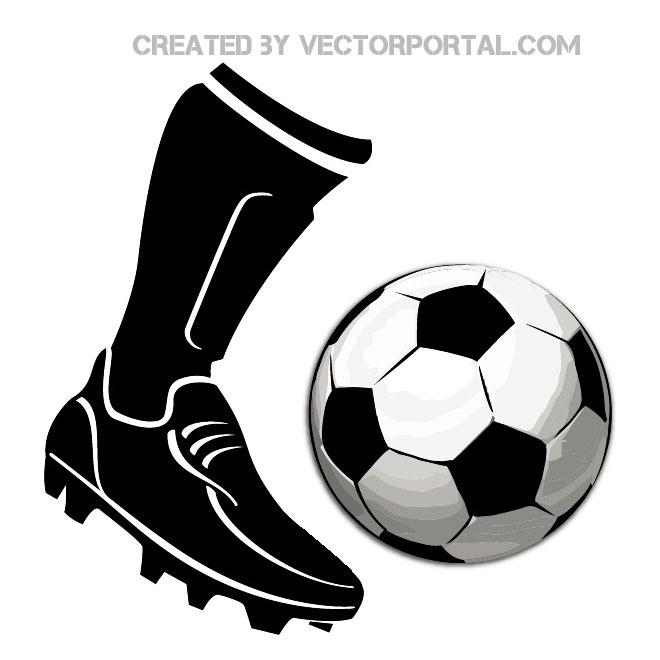Football clipart football boot #11