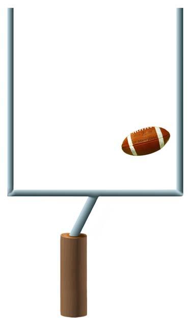 Football clipart football goal post Football post clipart Football Football