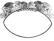 Football clipart frame Frames clip football Football art