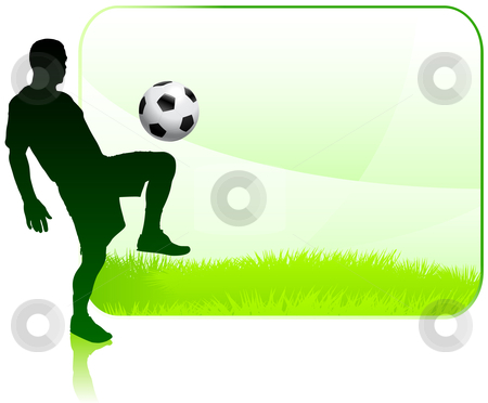 Football clipart frame Player Player Soccer Soccer with