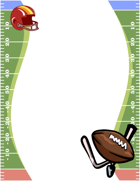 Football clipart frame And helmet ball border Page
