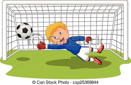 Football clipart goalie Cartoon Vector goalie Vector football