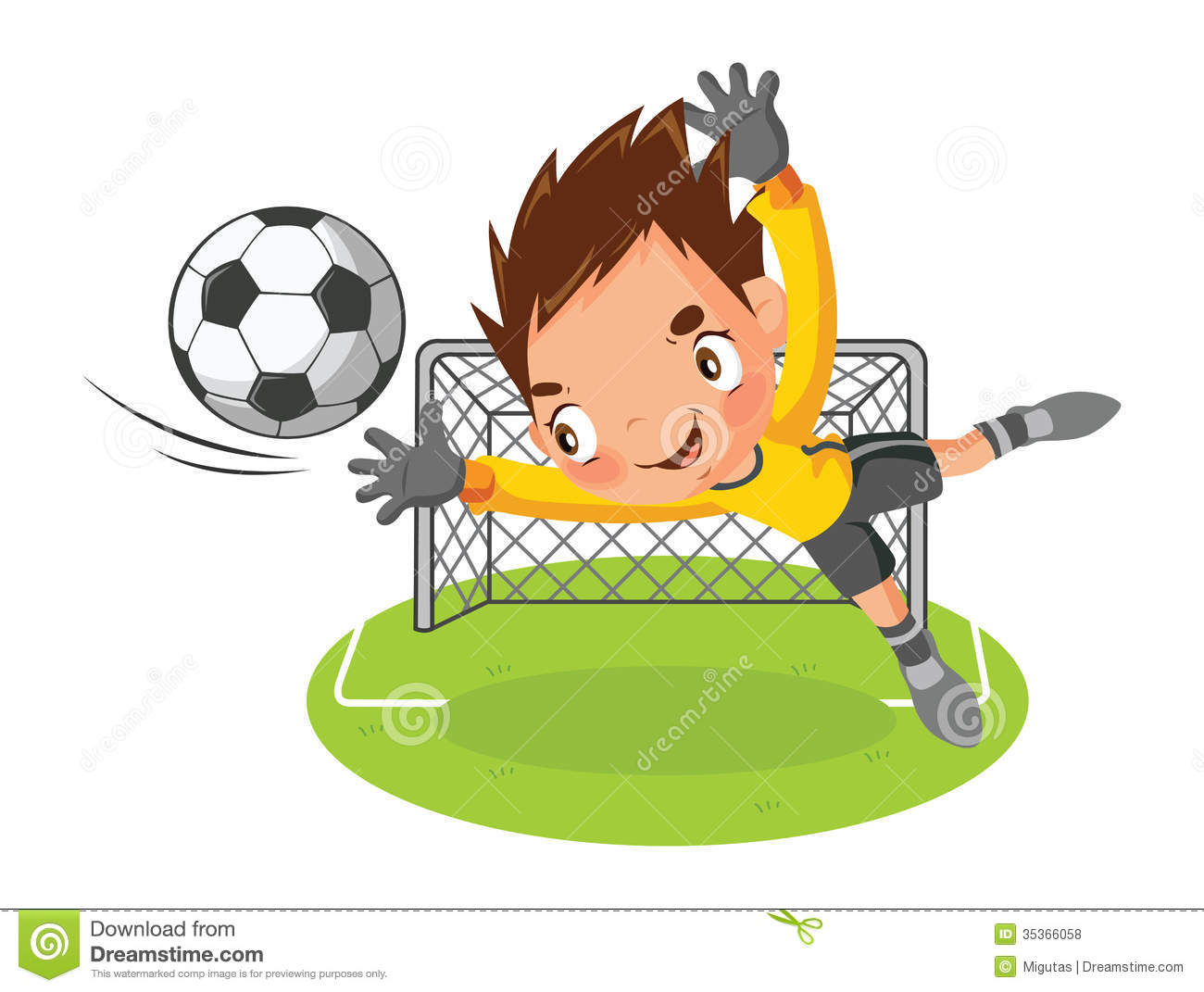 Football clipart goalie Goalie Photos Art Royalty clip
