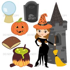 Witch clipart bowl For Graphics Images Halloween Clip