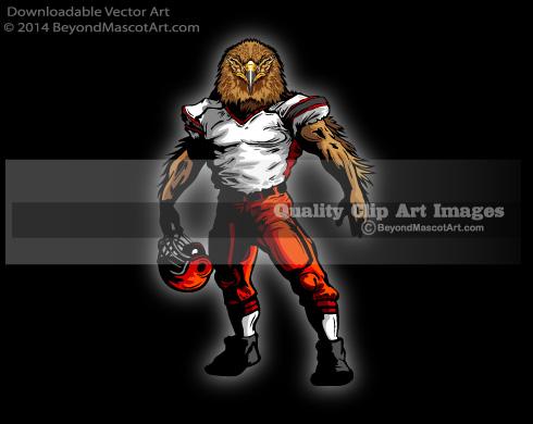 Football clipart hawk #9