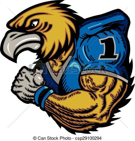 Football clipart hawk #11