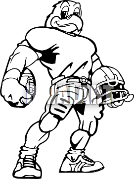 Football clipart hawk #12