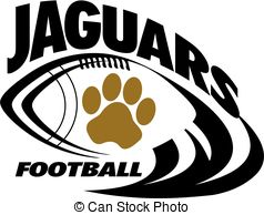 Football jaguar jaguars print Illustration