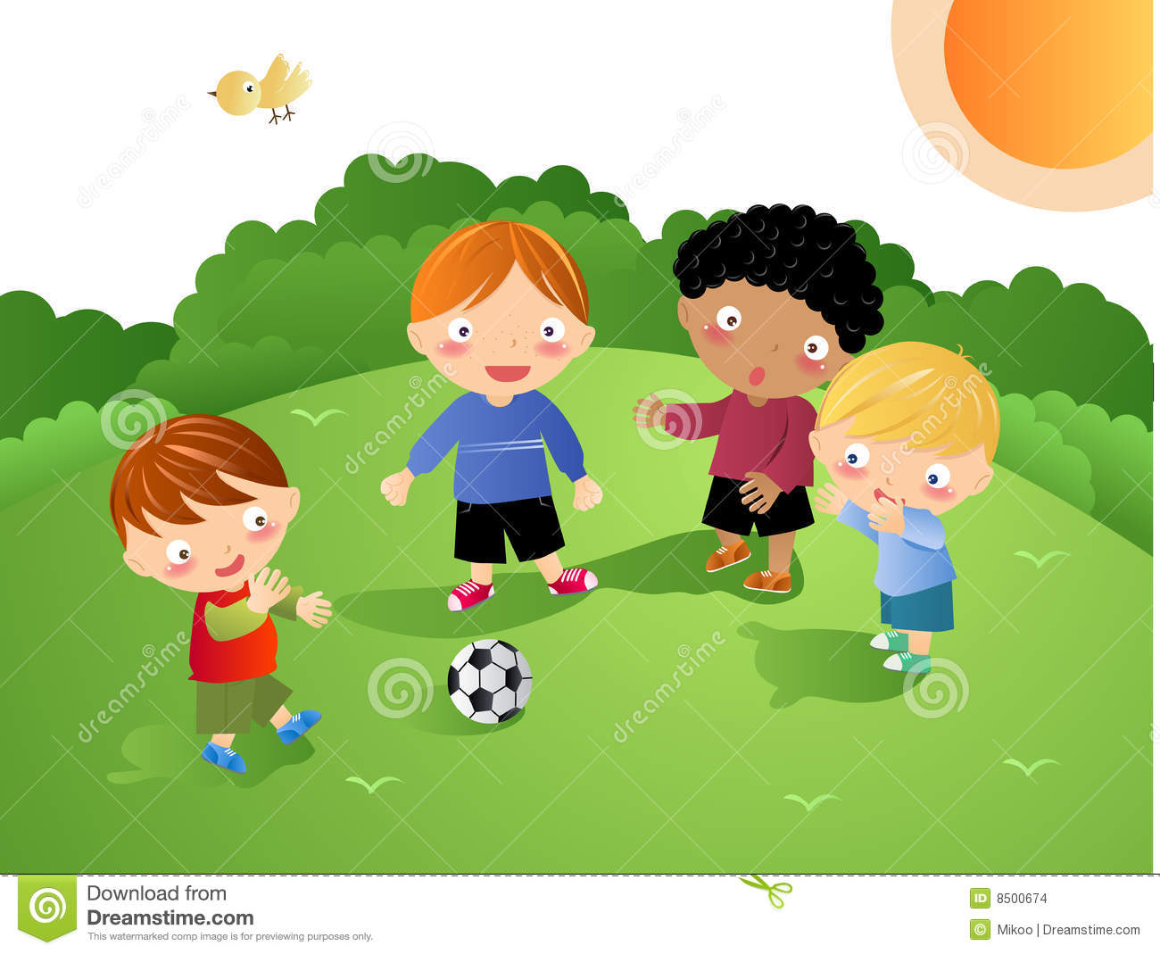 Football clipart kid football Playing kids Football Clipart collection