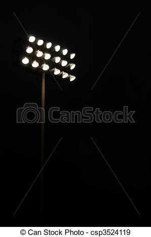Football clipart light Of lights a field sports