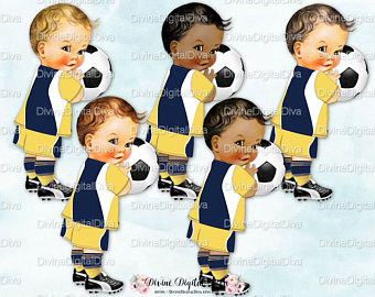 Football clipart light blue White Player Prince Yellow Tones