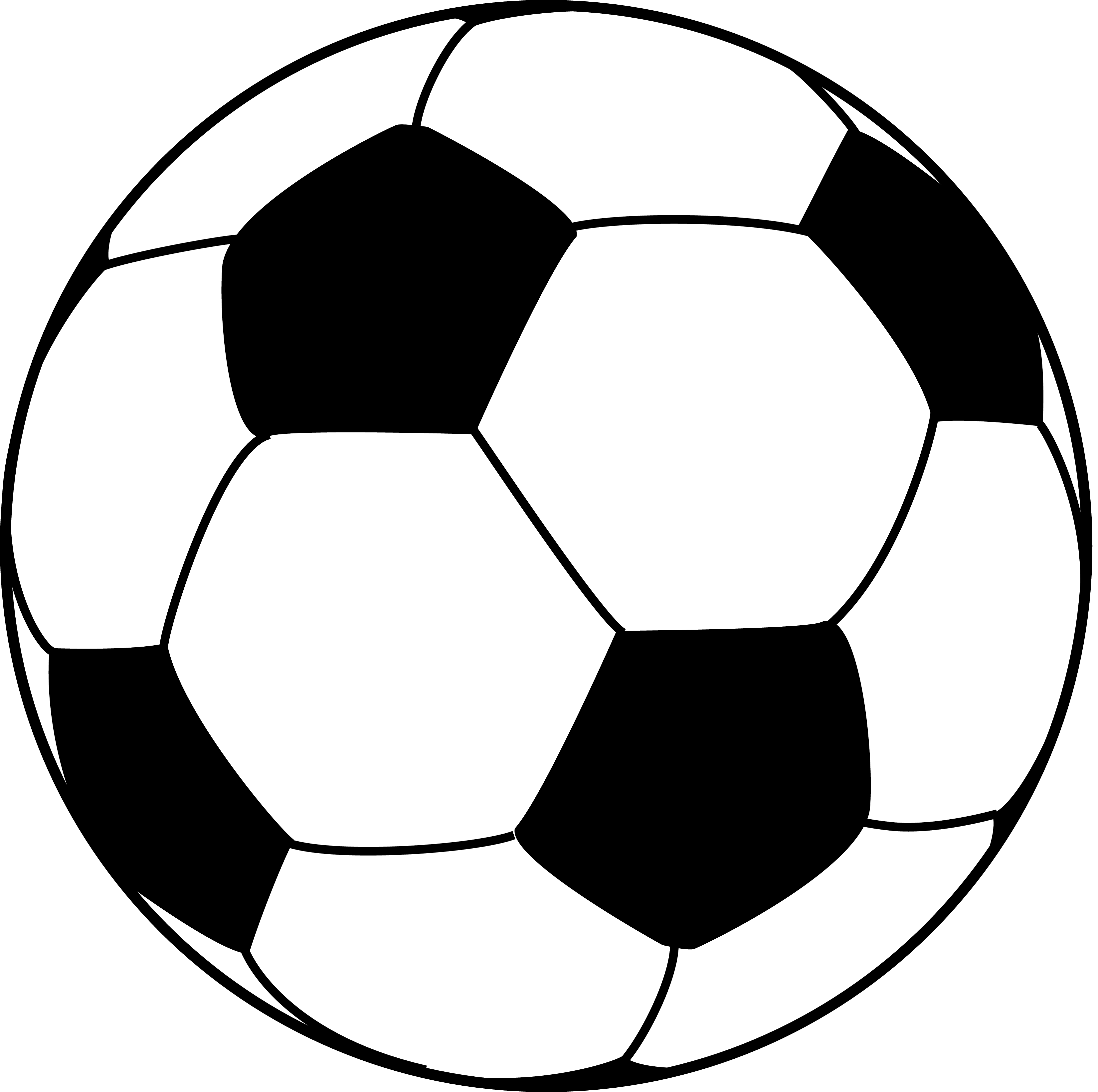 Ball clipart vector Clipart line ball Cliparting Soccer