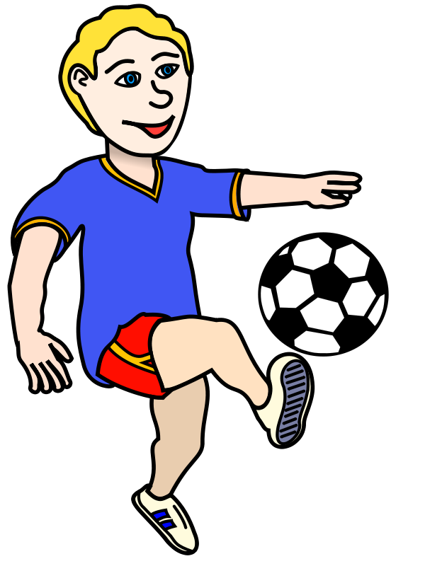Football clipart locomotor movement Soccer Playing Art Soccer Download