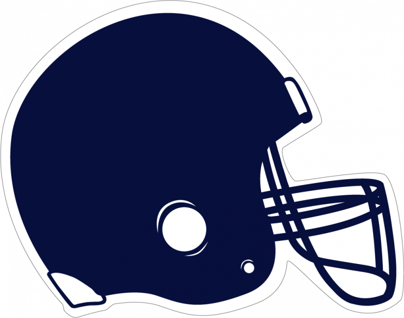 Football clipart navy blue #3