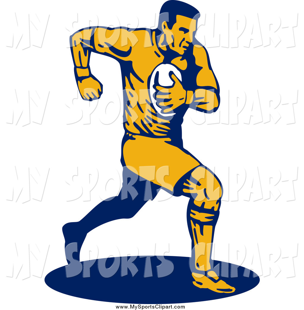 Football clipart navy blue #7