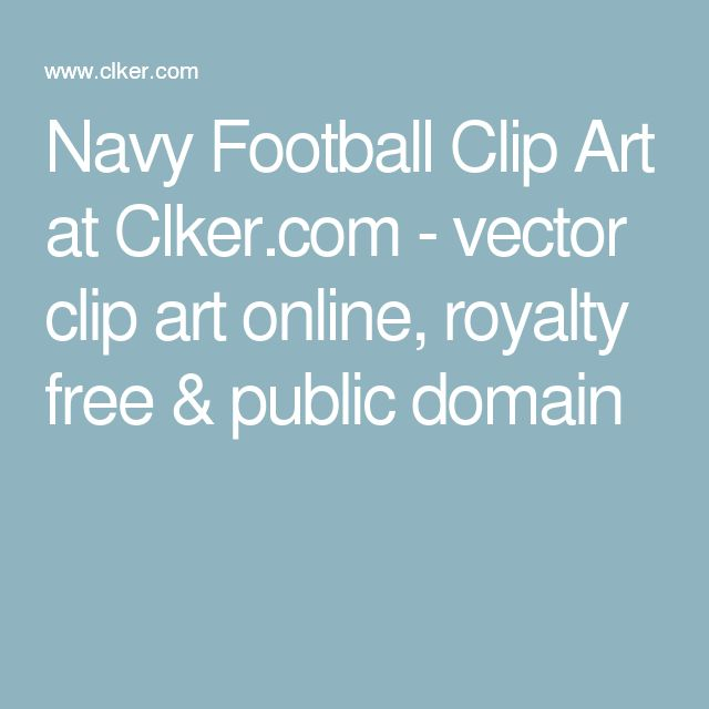 Football clipart navy blue #10