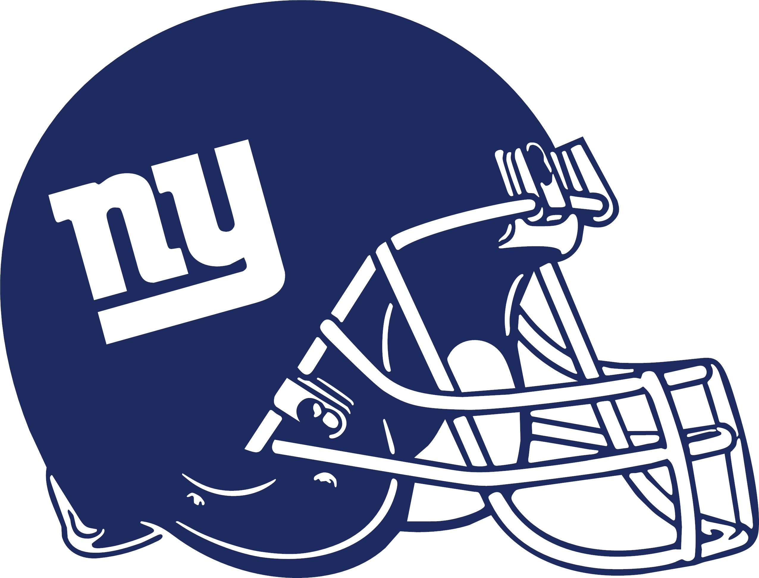Football clipart ny giants Blue logo clipart  Big