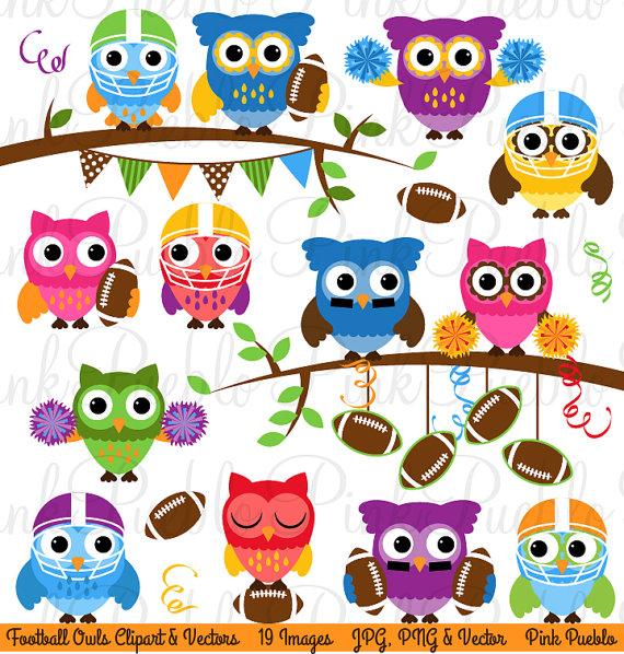 Football clipart owls Vectors on and Owl Owl