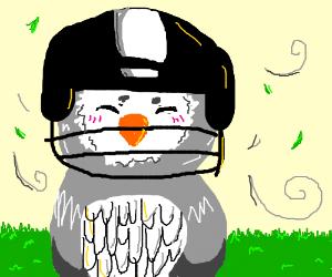 Football clipart owls Wearing football owl wearing helmet