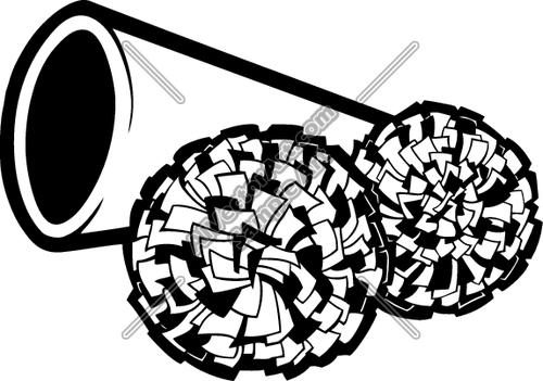 Football clipart pom pom Pom and clip megaphone art