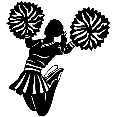 Football clipart pom pom  With on & and