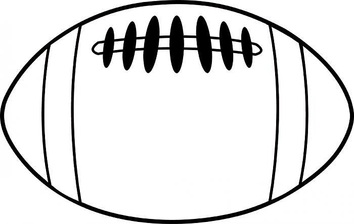 Football clipart printable  and football black on