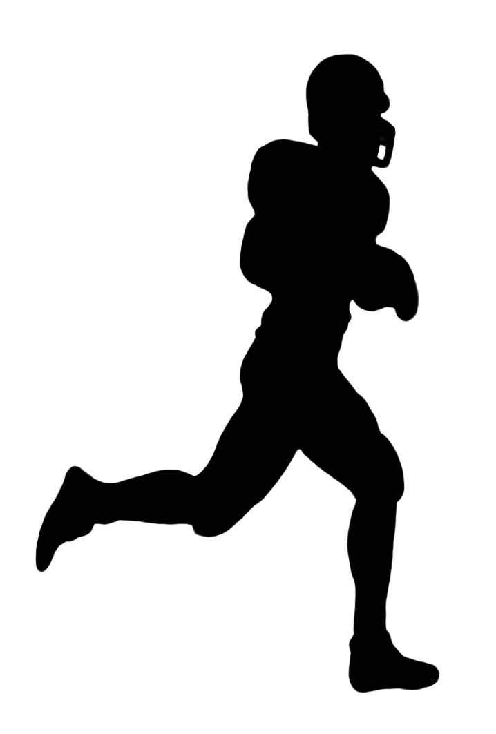 Rear clipart football player Art Art – Silhouette Clip
