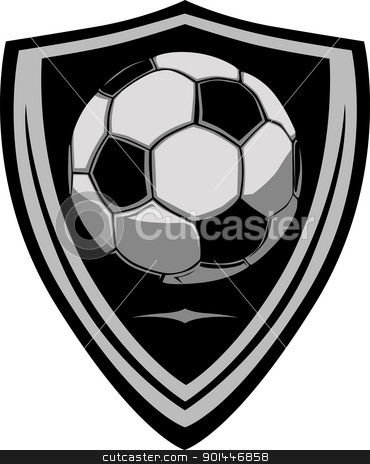 Football clipart shield Template with Shield Soccer vector