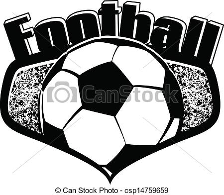 Football clipart shield Text with Clipart Vector Vector