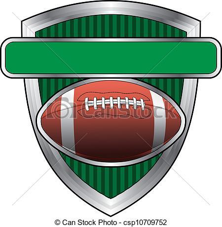 Football clipart shield Vector Black of American Football