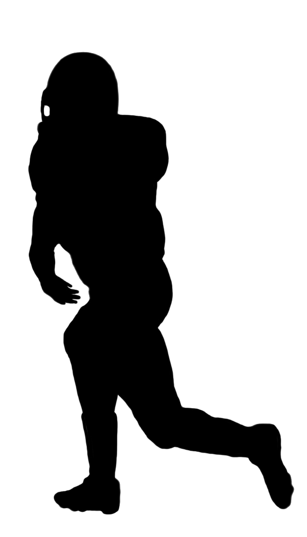 Football clipart silhouette Clipart Kinds of silhouette of