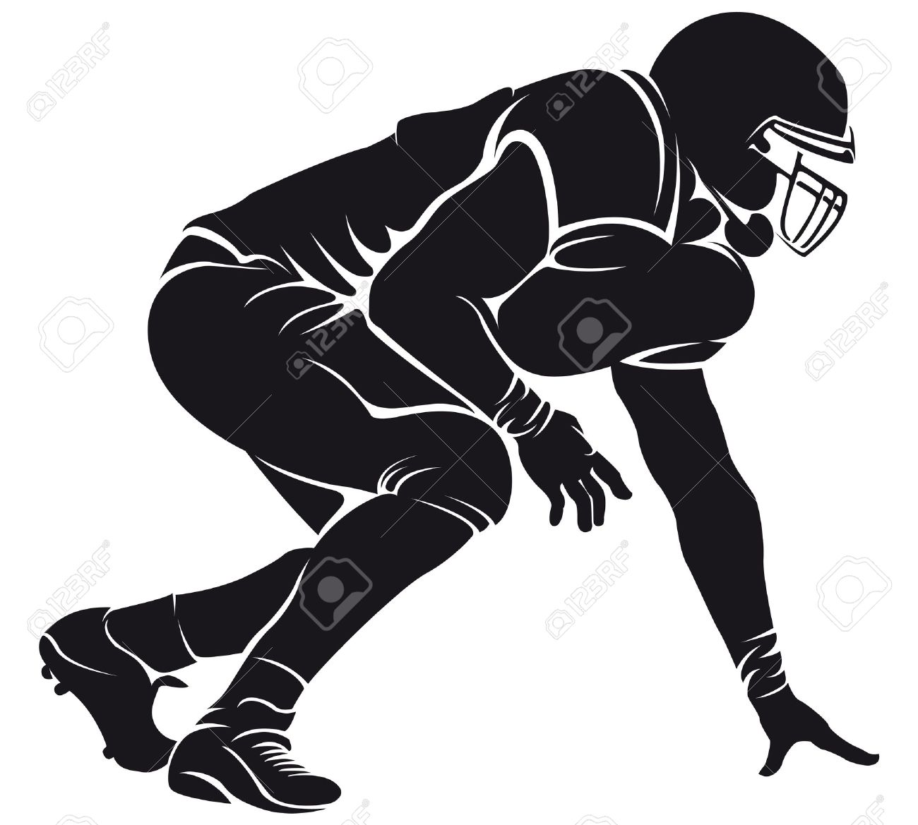 Football clipart silhouette Clipart art 986 31 collection