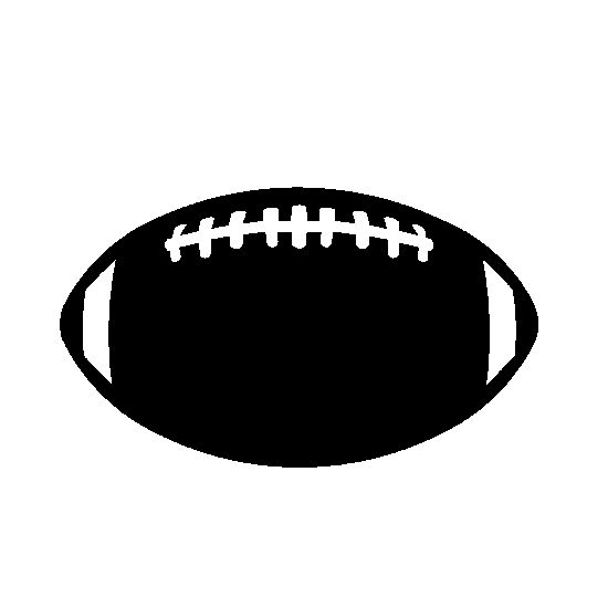 Football clipart silhouette Football and on images Clip