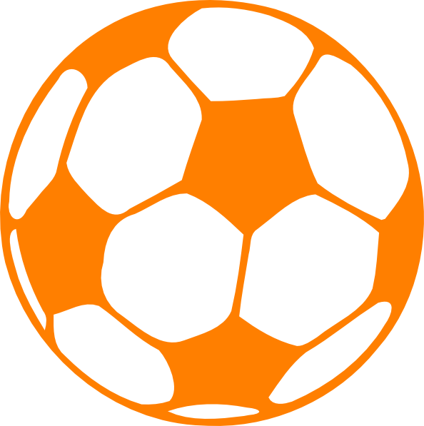 Football clipart small Orange at clip domain Clker