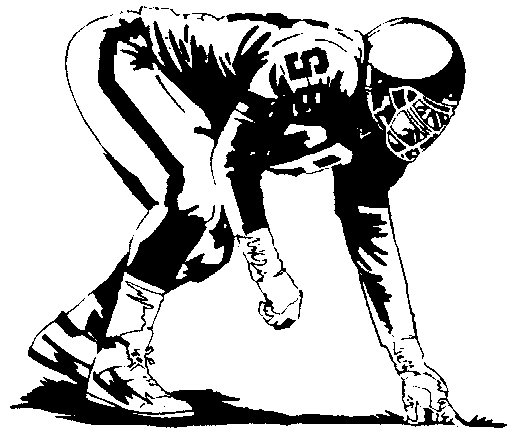 Football clipart stance Stance Cartoon Lineman Stance Lineman