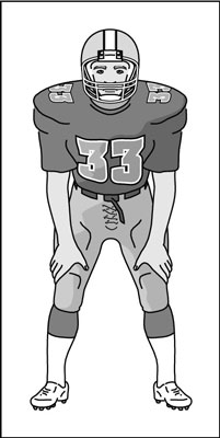 Football clipart stance In Possible dummies Backs for