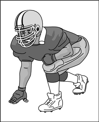 Football clipart stance In stance telegraph his Keys