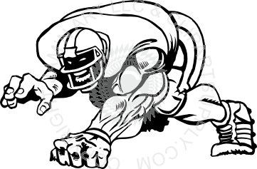 Football clipart stance In in Point Player Point