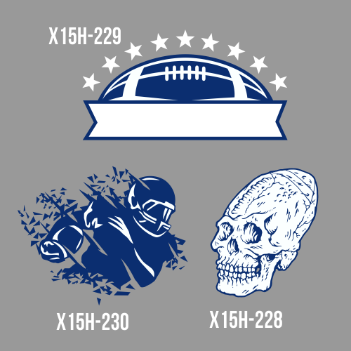 Football clipart stylized And Custom and flame includes