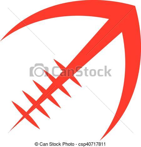 Football clipart stylized #2