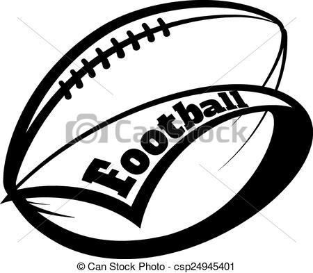 Football clipart stylized American Font Football around pennant