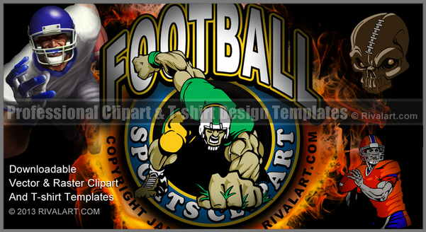 Com Clipart on Rivalart Football