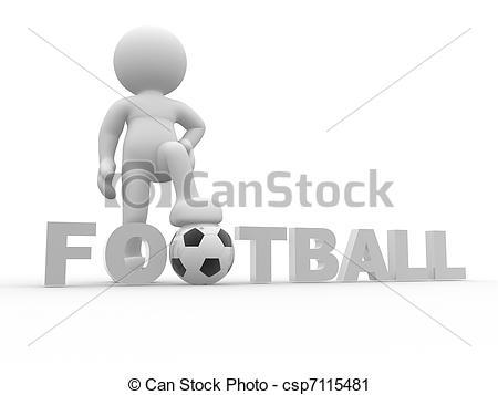 Football clipart word #12