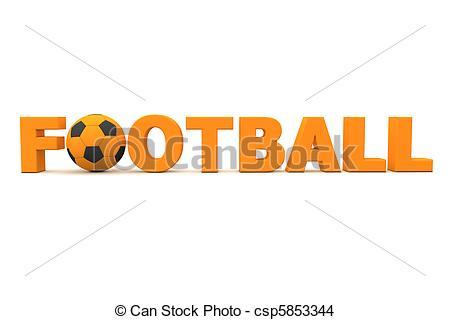 Football clipart word #5