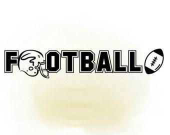 Football clipart word #10
