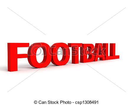 Football clipart word #7