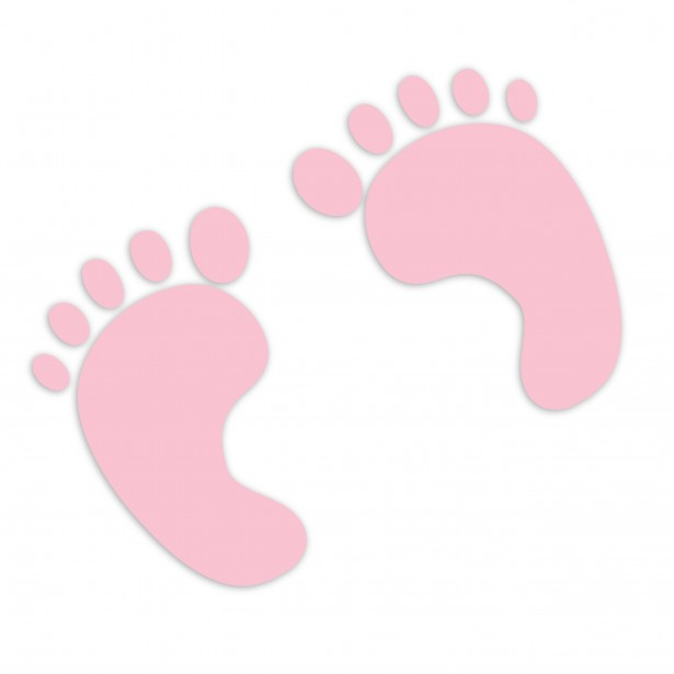 Footprint clipart baby shower Footprint Baby clipart girl free